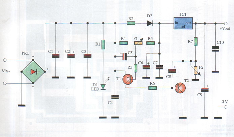 Schema alimentatore da laboratorio